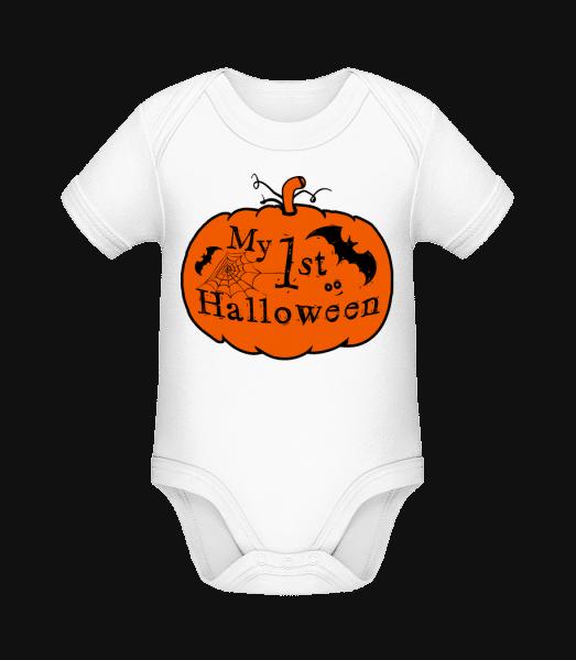 My First Halloween - Organic Baby Body - White - Vorn