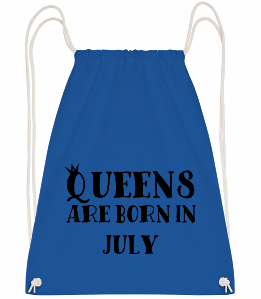 Queens Are Born In July - Drawstring Backpack - Royal blue - Vorn