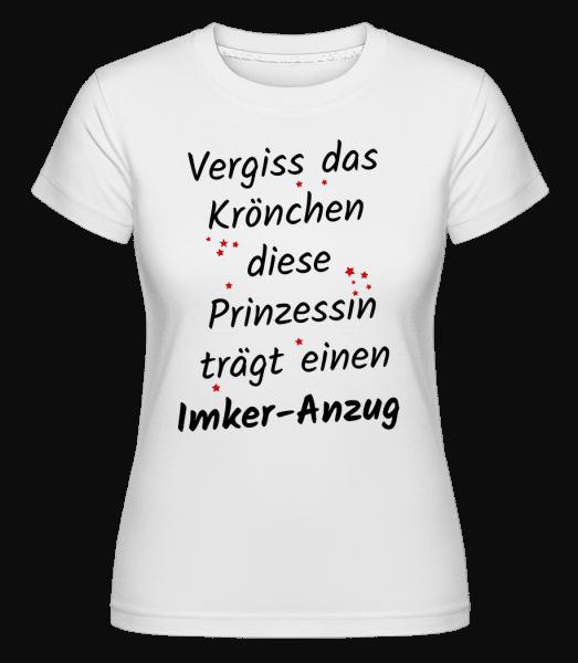 Prinzessin Trägt Imker-Anzug - Shirtinator Frauen T-Shirt - Weiß - Vorn