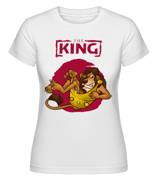 The King -  Shirtinator Women's T-Shirt - White - Front
