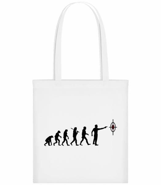 Evolution Of Shooting - Carrier Bag - White - Vorn