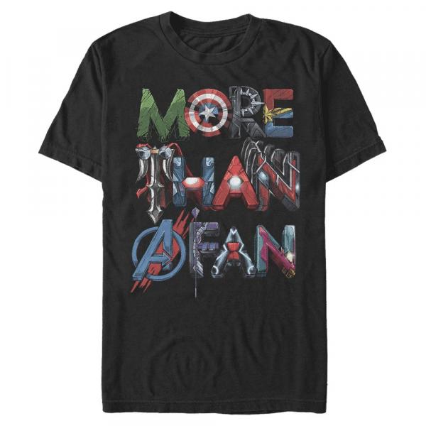 Fan Avenge Reunite Text - Marvel Avengers - Men's T-Shirt - Black - Front