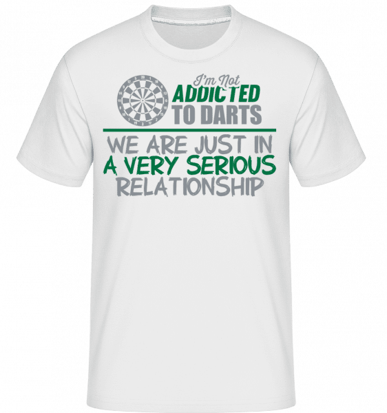 Darts Relationship -  Shirtinator Men's T-Shirt - White - Vorn