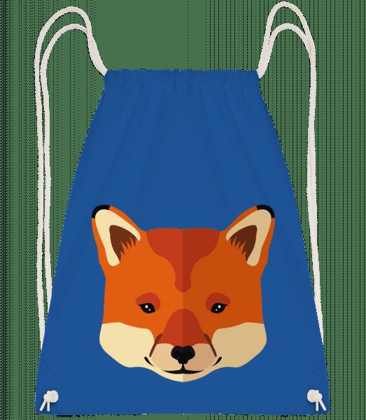 Fox Comic - Drawstring Backpack - Royal blue - Vorn