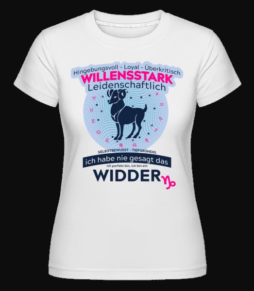 Sternzeichen Widder - Shirtinator Frauen T-Shirt - Weiß - Vorn