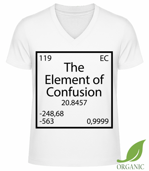 "The Element Of Confusion - ""James"" Organic V-Neck T-Shirt - White - Vorn"