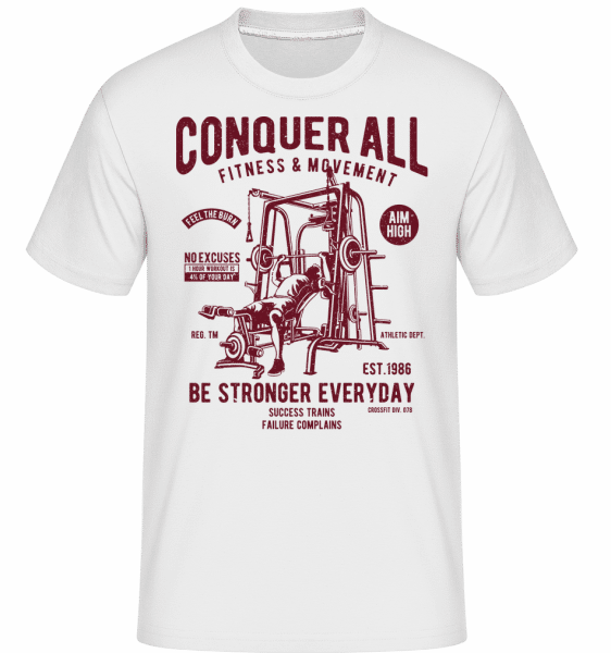 Conquer All -  Shirtinator Men's T-Shirt - White - Front