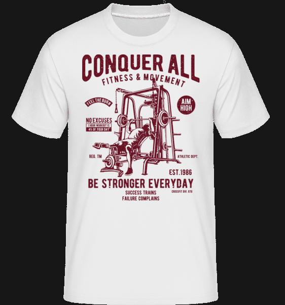 Conquer All -  Shirtinator Men's T-Shirt - White - Vorn