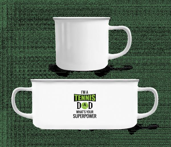 Tennis Dad Superpower - Enamel-cup - White - Vorn