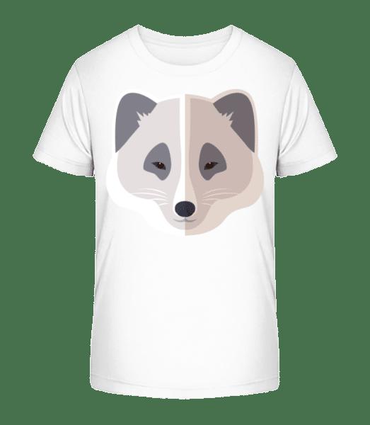 Racoon Comic Tieň - Detské Premium Bio tričko - Biela - Predné