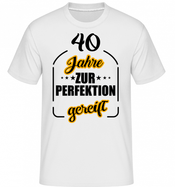 40 Jahre Gereift - Shirtinator Männer T-Shirt - Weiß - Vorn