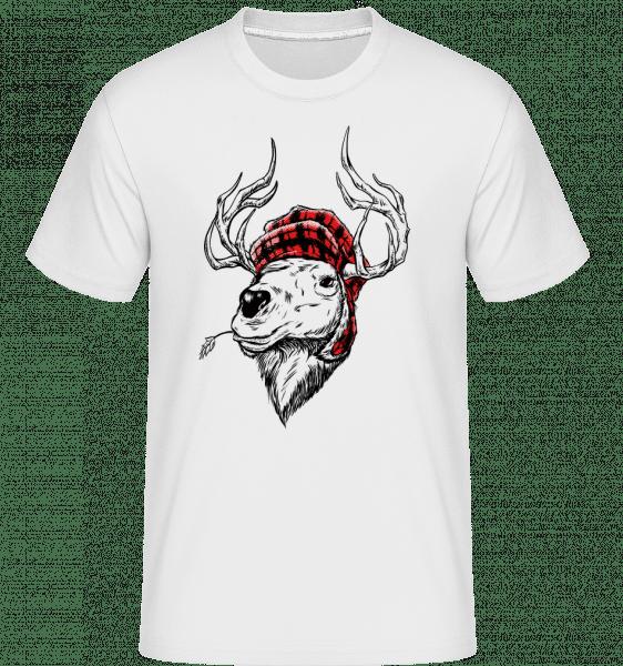 Christmas Reindeer -  Shirtinator Men's T-Shirt - White - Vorn
