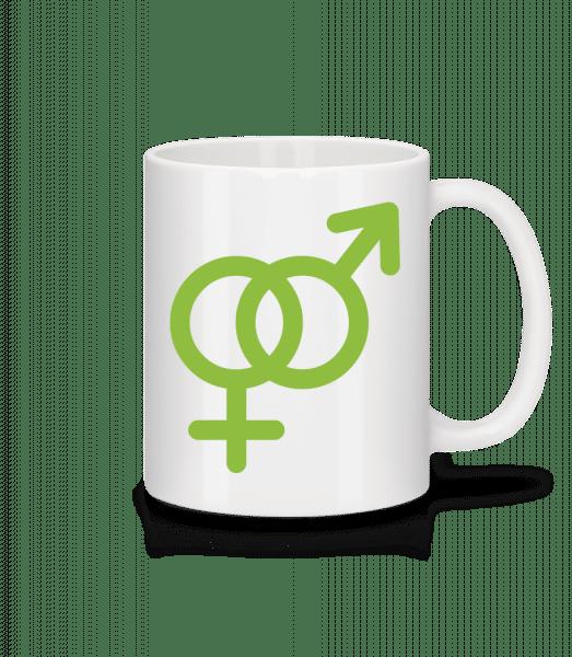 Male/Female Love Icon - Mug - White - Vorn