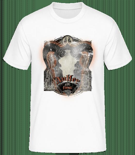 Buffalo Skull Vintage - Pánské basic tričko - Bílá - Napřed