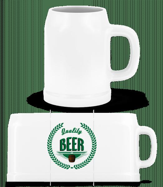 Quality Beer Logo - Beer Mug - White - Vorn