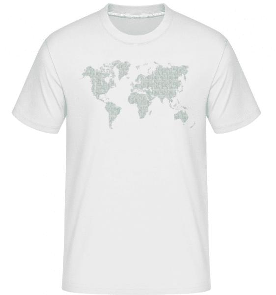 Circuit Board World Map -  Shirtinator Men's T-Shirt - White - Front