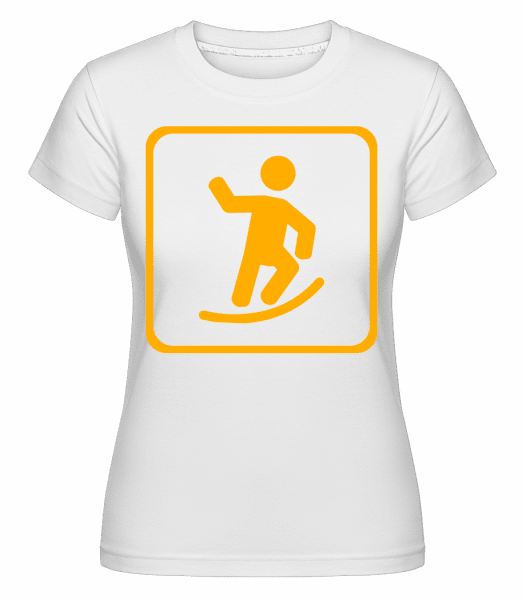 Skateboard Sign -  Shirtinator Women's T-Shirt - White - Vorn