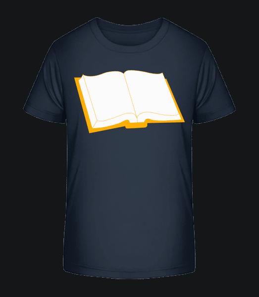 Book Open - Kid's Premium Bio T-Shirt - Navy - Vorn