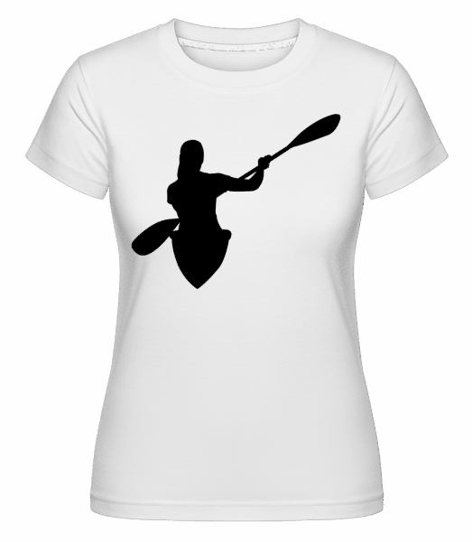 Kayak Shape Black -  Shirtinator Women's T-Shirt - White - Vorn