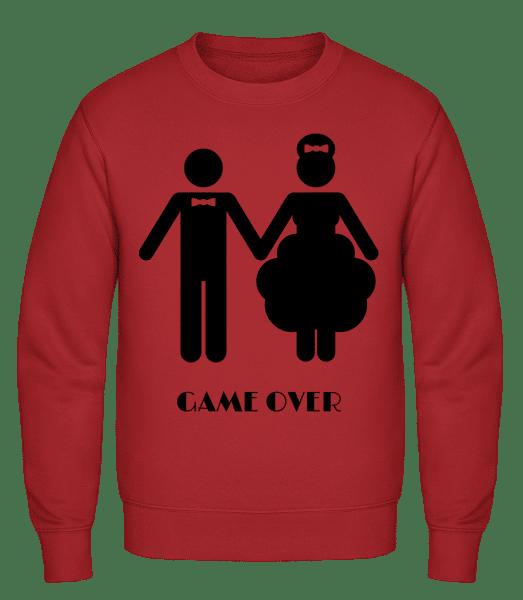 Game Over Wedding - Classic Set-In Sweatshirt - Red - Vorn