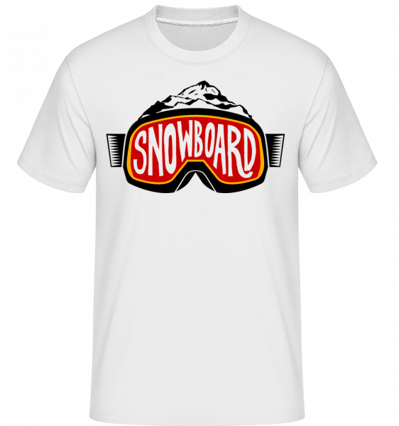 Snowboarding Logo -  Shirtinator Men's T-Shirt - White - Vorn