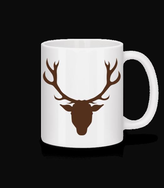 Deer - Brown - Keramický hrnek - Bílá - Napřed