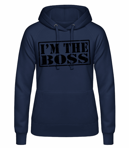 I'm The Boss - Women's hoodie - Navy - Vorn