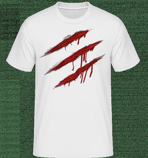 Bloody Scratches -  Shirtinator Men's T-Shirt - White - Vorn