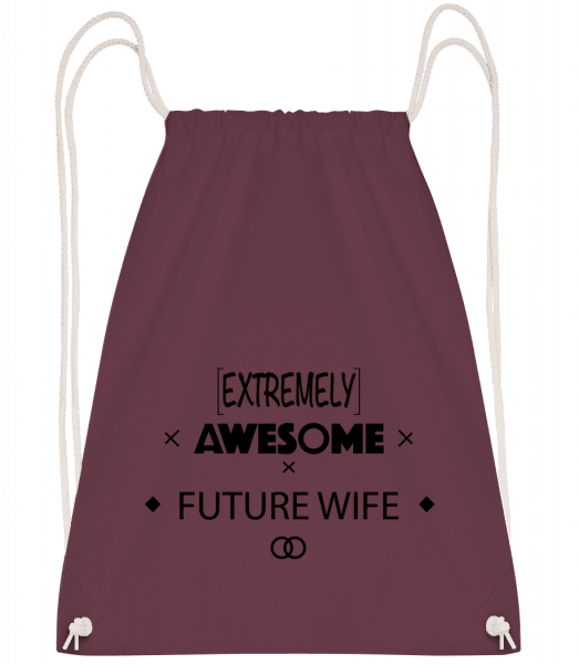 Awesome Future Wife - Drawstring Backpack - Bordeaux - Vorn