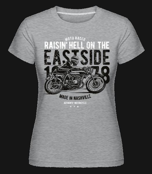 Raisin Hell Moto Racer -  Shirtinator Women's T-Shirt - Heather grey - Vorn