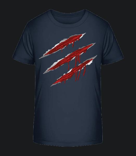 Bloody Scratches - Kid's Premium Bio T-Shirt - Navy - Vorn