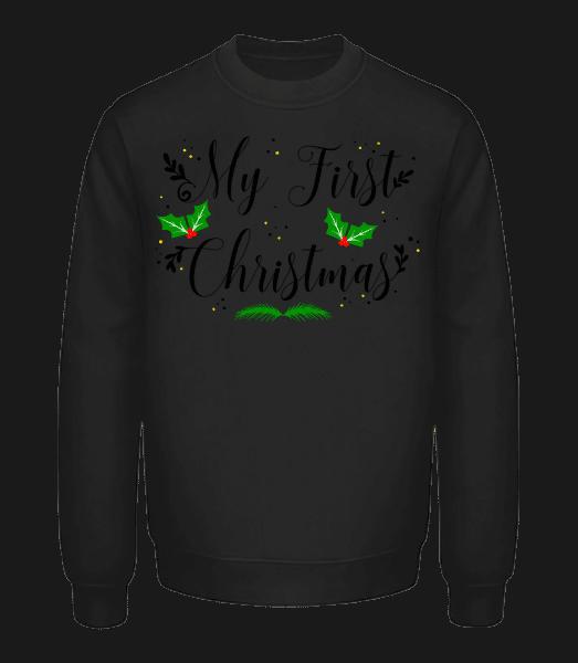 My First Christmas - Unisex Sweatshirt - Black - Vorn