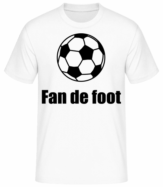 Fan De Foot - T-shirt standard Homme - Blanc - Vorn