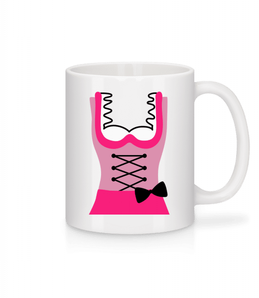 Dirndl Dress - Mug - White - Vorn
