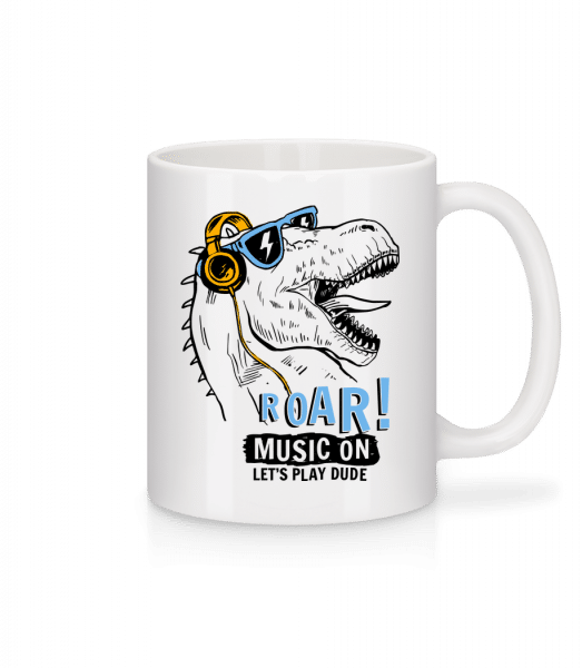 Music On Dino - Mug - White - Vorn