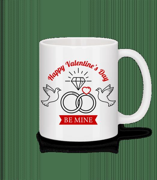 Valentine's Day Be Mine - Mug - White - Vorn