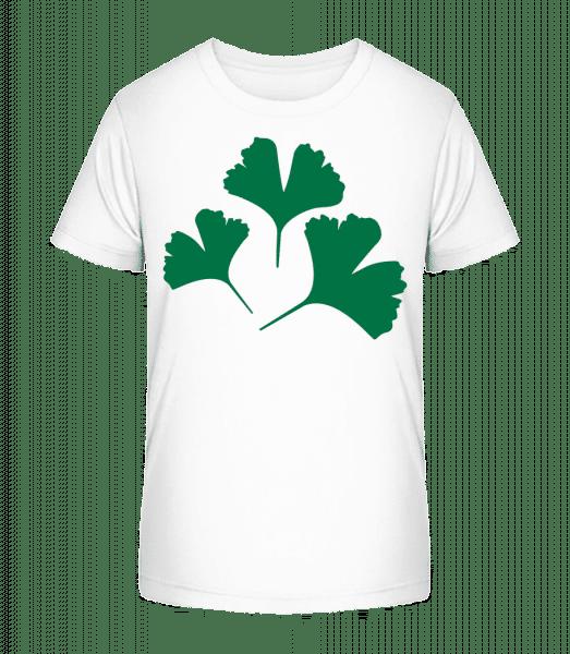 Plant Symbol - Kid's Premium Bio T-Shirt - White - Vorn
