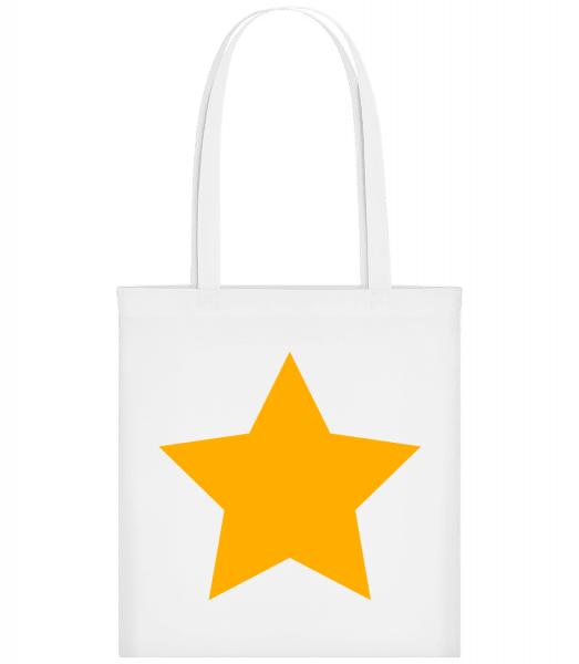 Star Icon Yellow - Carrier Bag - White - Vorn
