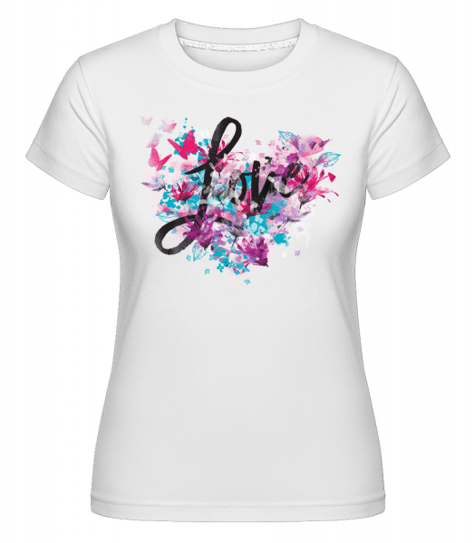 Love -  Shirtinator Women's T-Shirt - White - Vorn