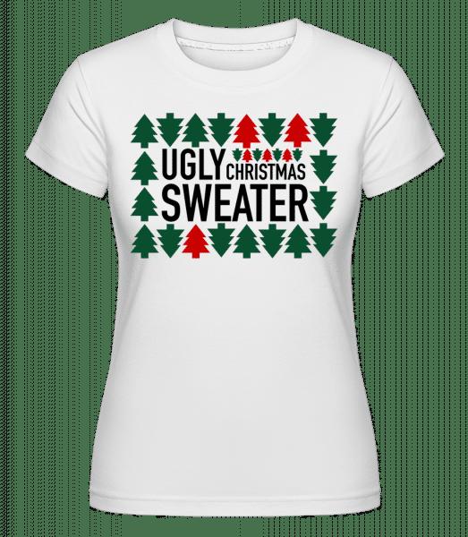 Ugly Christmas Sweater -  Shirtinator Women's T-Shirt - White - Vorn