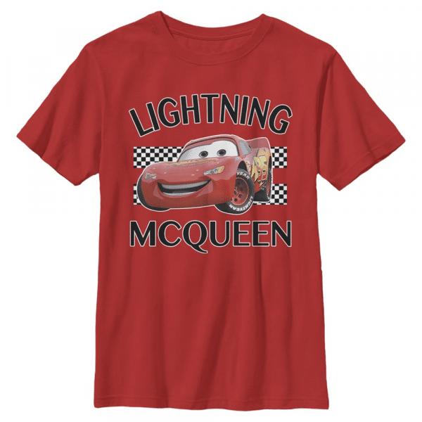 Lightning McQueen - Pixar Cars 1-2 - Kids T-Shirt - Red - Front