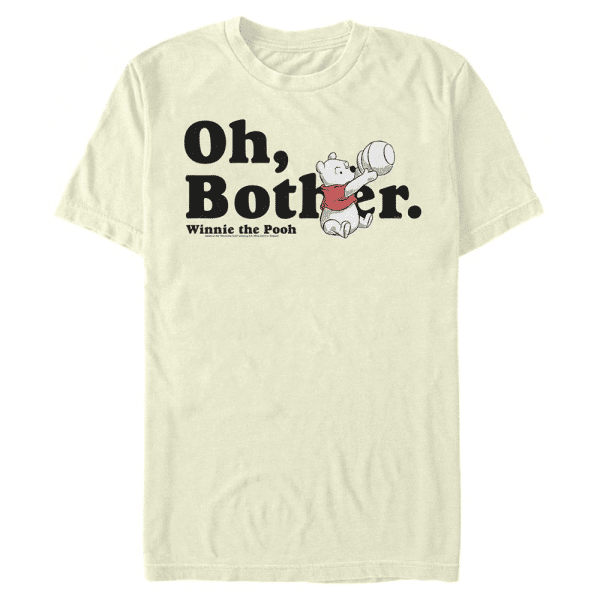 More Bothers - Disney Winnie the Pooh - Men's T-Shirt - Cream - Front