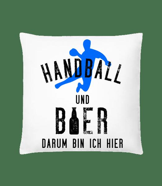 Handball Und Bier - Kissen - Weiß - Vorn