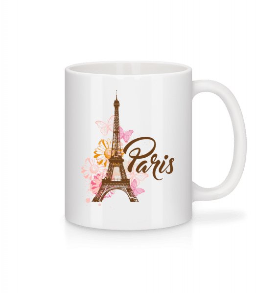 Paris France Brown - Mug - White - Vorn