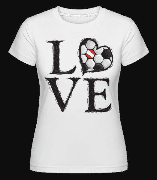 Football Love Austria -  Shirtinator Women's T-Shirt - White - Vorn