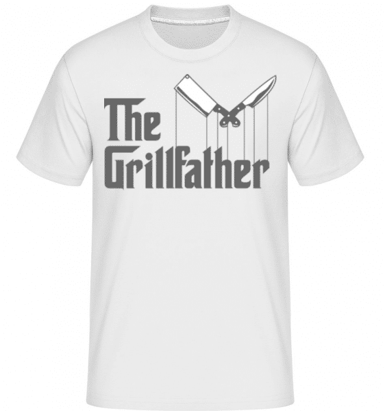 The Grillfather -  Shirtinator Men's T-Shirt - White - Front