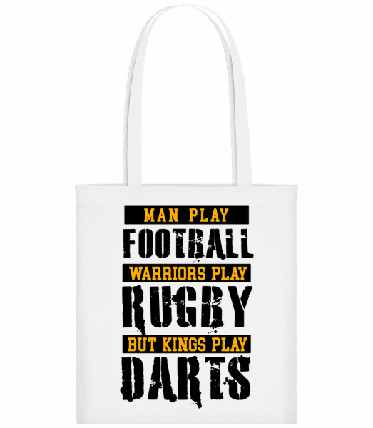 Kings Play Darts - Sac tote - Blanc - Vorn