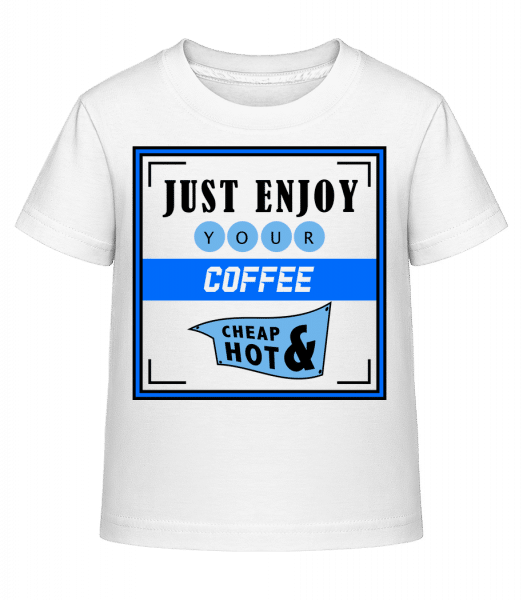Just Enjoy - Kid's Shirtinator T-Shirt - White - Vorn