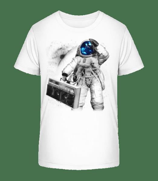 Ghettoblaster Astronaut - Kid's Premium Bio T-Shirt - White - Vorn