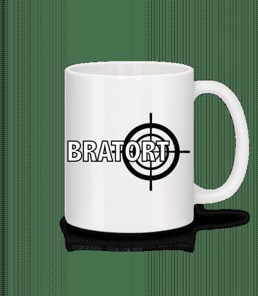 Bratort - Tasse - Weiß - Vorn